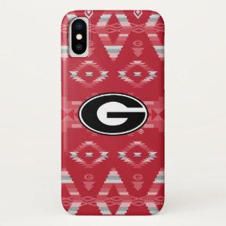 Georgia Bulldogs Logo | Tribal Pattern iPhone X Case