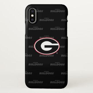 Georgia Bulldogs Logo | Watermark Pattern iPhone X Case