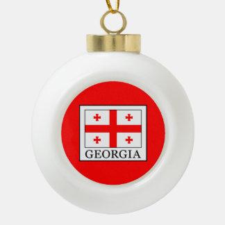 Georgia Ceramic Ball Christmas Ornament
