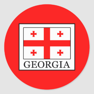 Georgia Classic Round Sticker
