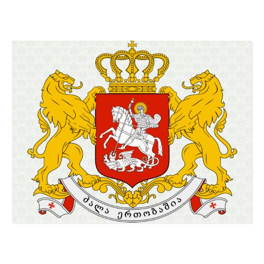 Georgia Coat of Arms detail Postcard
