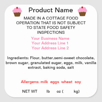GEORGIA Cottage Food Law Product Labels