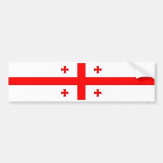 georgia country flag symbol bumper sticker