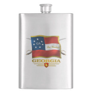 Georgia (Deo Vindice) Hip Flask
