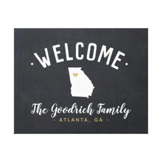 Georgia Family Monogram Welcome Sign