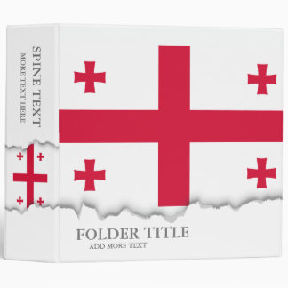 Georgia Flag 3 Ring Binders