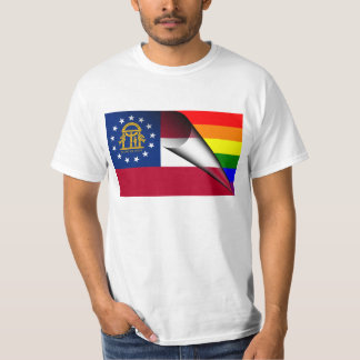Georgia Flag Gay Pride Rainbow T-Shirt