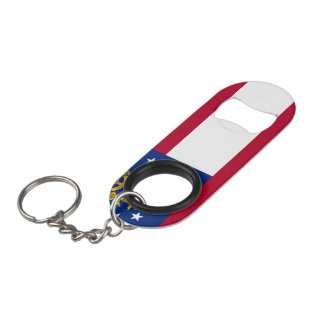 Georgia Flag Keychain Bottle Opener