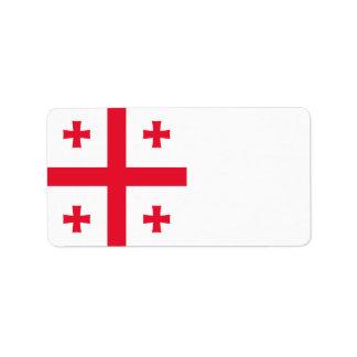 Georgia Flag Label