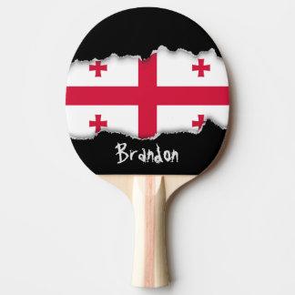 Georgia Flag Ping-Pong Paddle