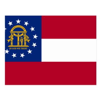 Georgia Flag Postcard