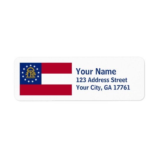 Georgia Flag Return Address Labels