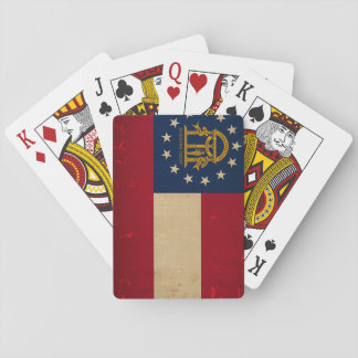 Georgia Flag VINTAGE.png Playing Cards