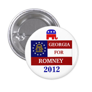 Georgia  for Romney 2012 1 Inch Round Button
