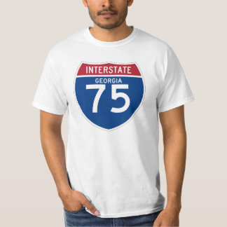 Georgia GA I-75 Interstate Highway Shield - T-Shirt