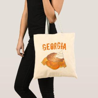 Georgia GA Peach Cobbler Southern Dessert Foodie Tote Bag