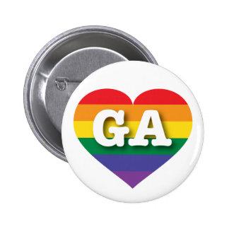 Georgia GA rainbow pride heart Pin