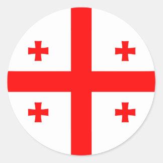 Georgia Georgian Flag Classic Round Sticker