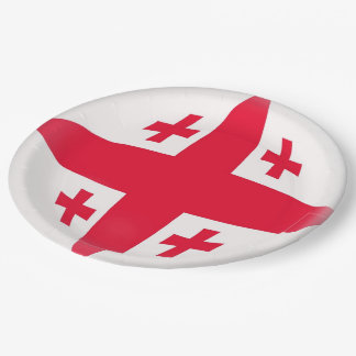 Georgia Georgian Flag Paper Plate