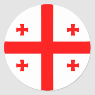 Georgia Georgian Flag Round Sticker