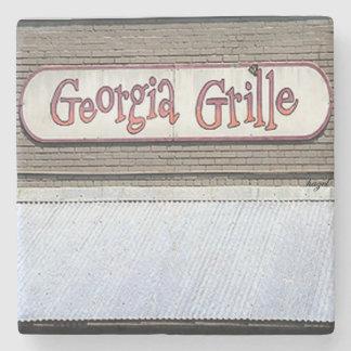 Georgia Grill, Buckhead, Atlanta Marble Stone Coas Stone Beverage Coaster