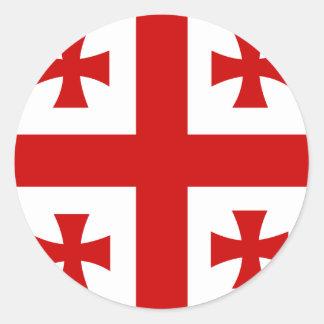 Georgia High quality Flag Round Sticker