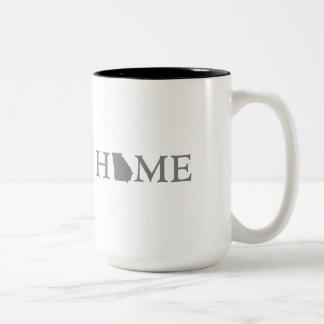 Georgia HOME state Two-Tone Coffee Mug