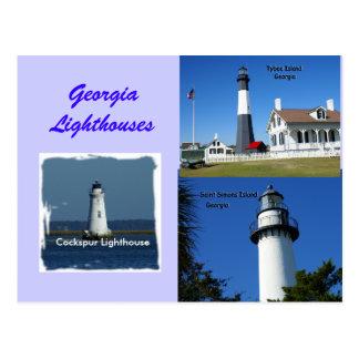 Georgia Lighthouses Postcard