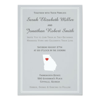 Georgia Love - Customizable Wedding Invitation