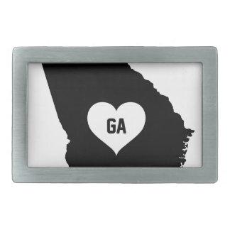 Georgia Love Rectangular Belt Buckle