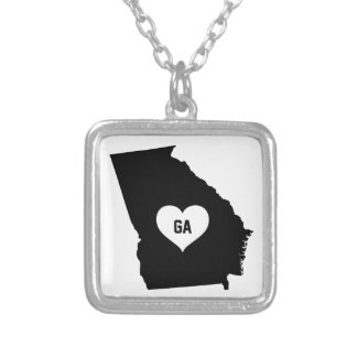 Georgia Love Silver Plated Necklace