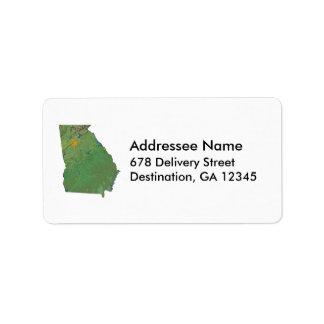 Georgia Map Address Label
