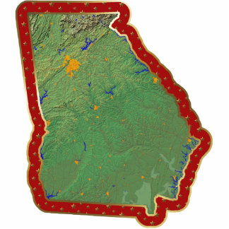 Georgia Map Christmas Ornament Cut Out