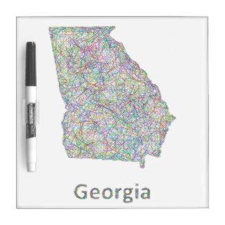 Georgia map Dry-Erase whiteboards