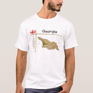 Georgia Map + Flag + Title T-Shirt
