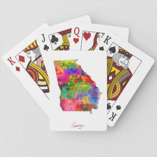 Georgia Map Poker Deck