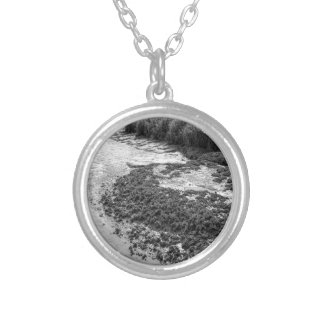 Georgia Mussel Beds and Grasslands Silver Plated Necklace