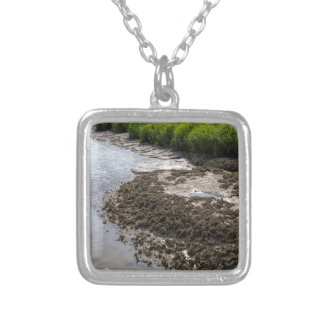 Georgia Mussel Beds and Green Grasslands Silver Plated Necklace