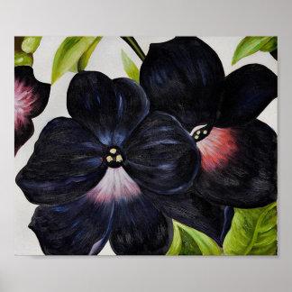 Georgia O'Keefe 1925 Black and Purple Petunias Poster