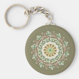 Georgia Organics circular keychain