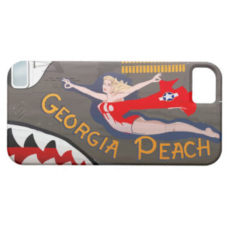 Georgia Peach B-24 Nose Art (Vintage Fuselage) iPhone 5 Case