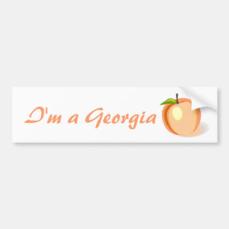 Georgia Peach bumper sticker