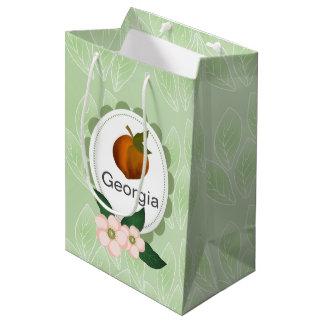 Georgia Peach fruit art design. Medium Gift Bag