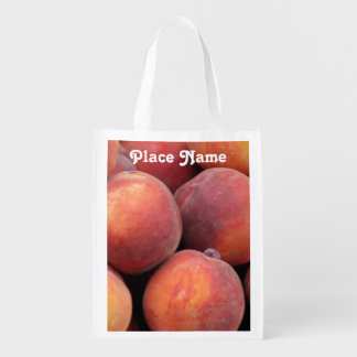 Georgia Peach Reusable Grocery Bags