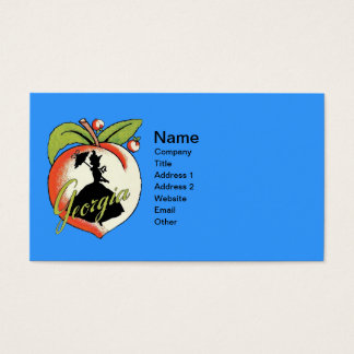 Georgia Peach With Black Silhouette Southern Lady Business Card
