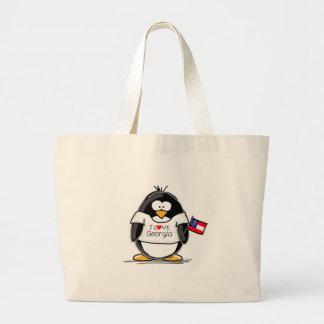 Georgia Penguin Jumbo Tote Bag