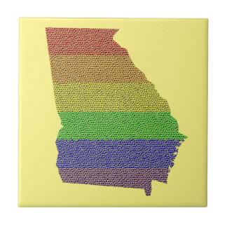 Georgia Rainbow Pride Flag Mosaic Tiles