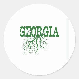 Georgia Roots Round Sticker