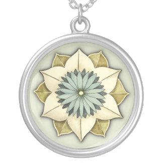 Georgia Rosette Stylized Flower Petal Art Personalized Necklace