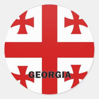 Georgia Roundel quality Flag Round Sticker